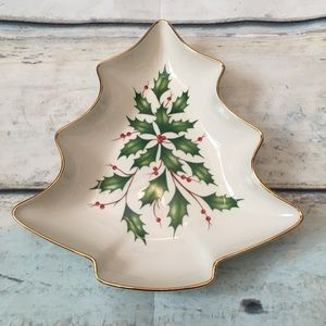 Lenox Dimension Collection Christmas Tree Platter